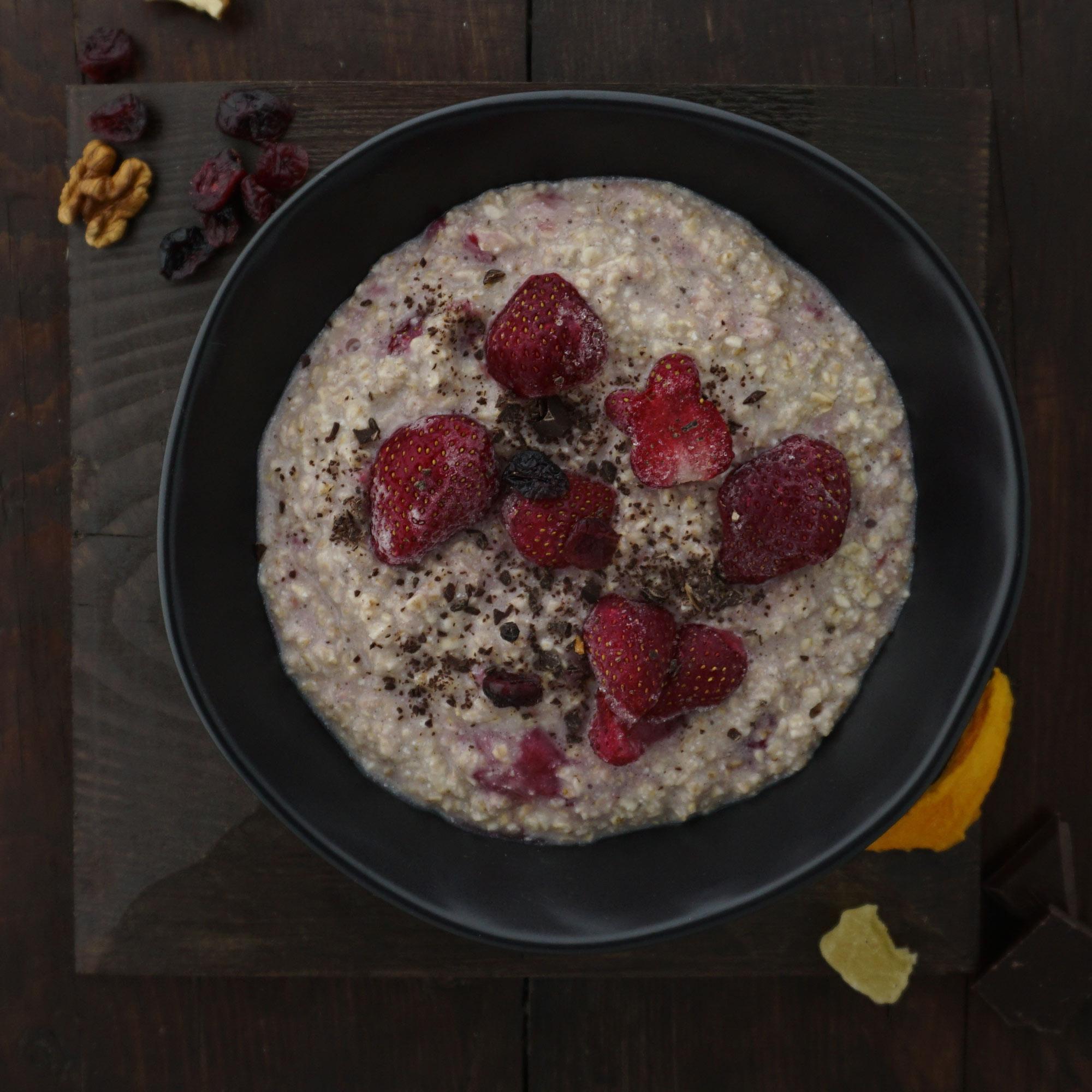 Porridge als proteinreiches Frühstück.