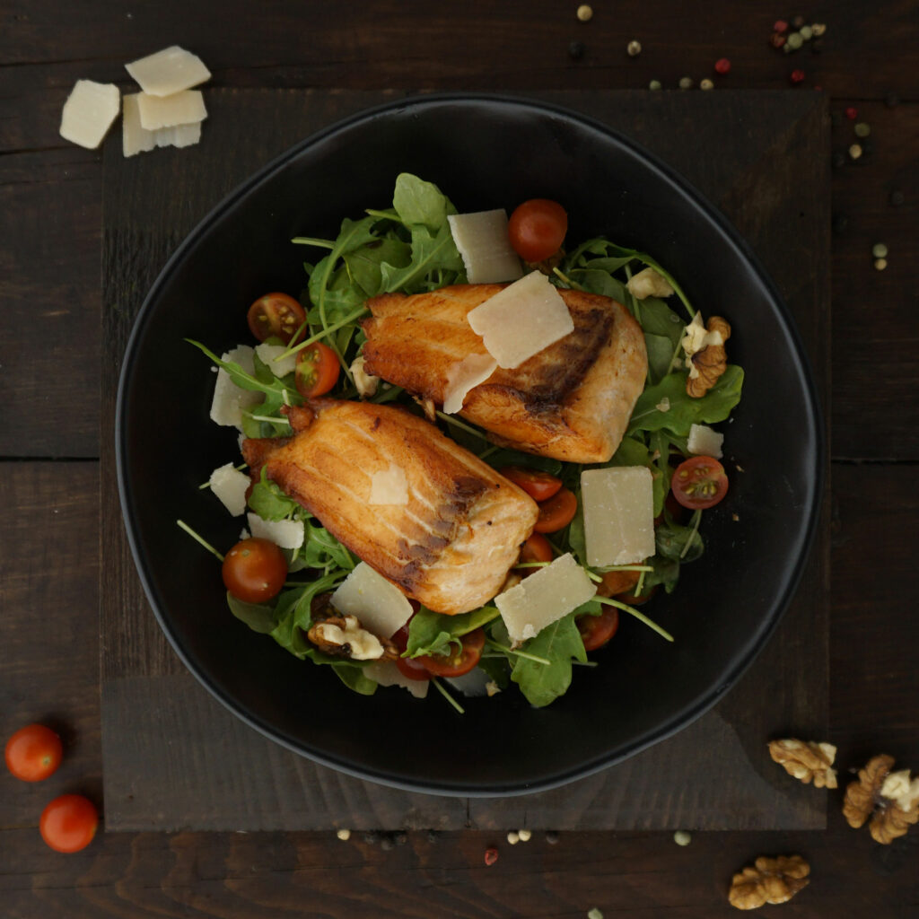 Lachs-Rucola-Salat bei OSteoporose